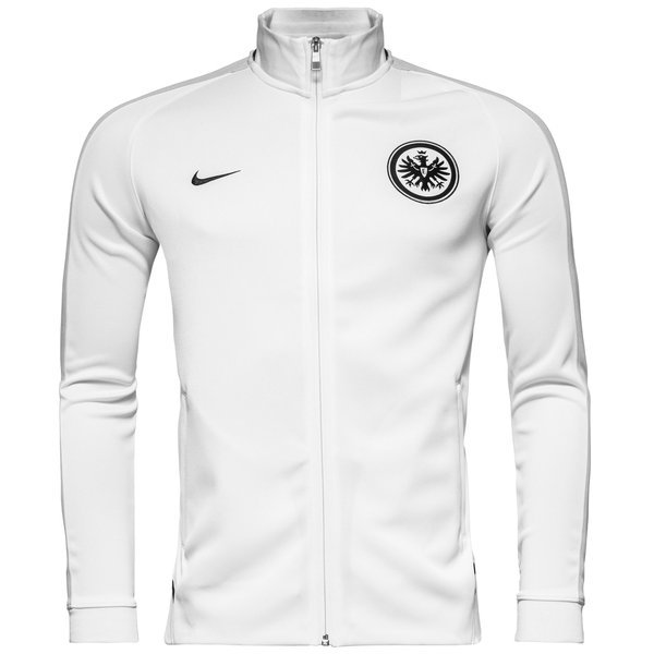 eintracht frankfurt trainingsjacke n98 authentic wei grau. Black Bedroom Furniture Sets. Home Design Ideas