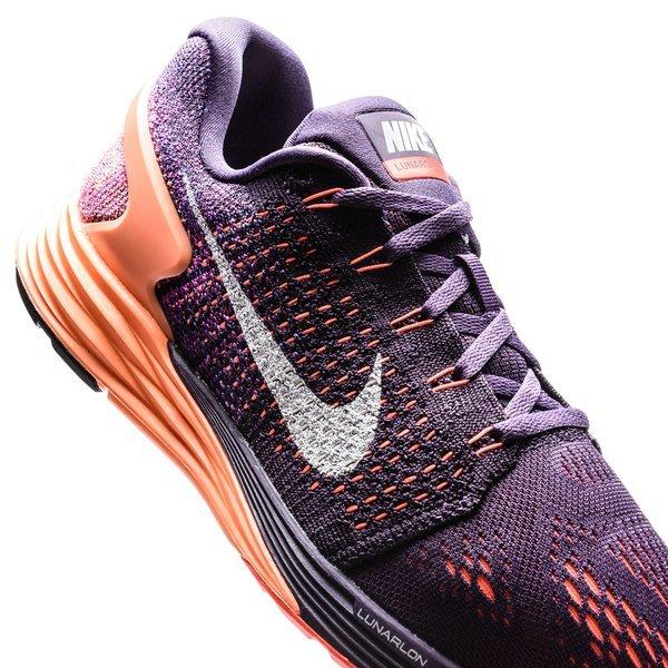 Nike Løbesko LunarGlide 7 LillaOrangeHvid Dame