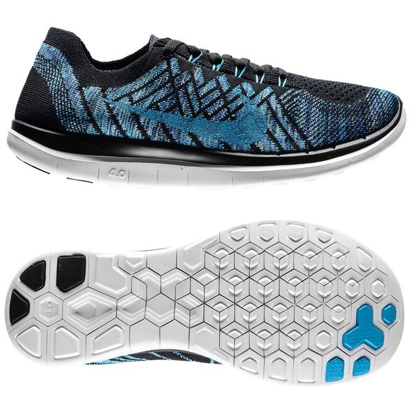 new concept 1a75a c8fdb €130. Price is incl. 19% VAT. -50%. Nike Free Running Shoe Flyknit 4.0 Black  Blue Lagoon Game Royal