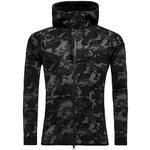 Nike Hættetrøje Tech Fleece Windrunner Camo Sort/Grå