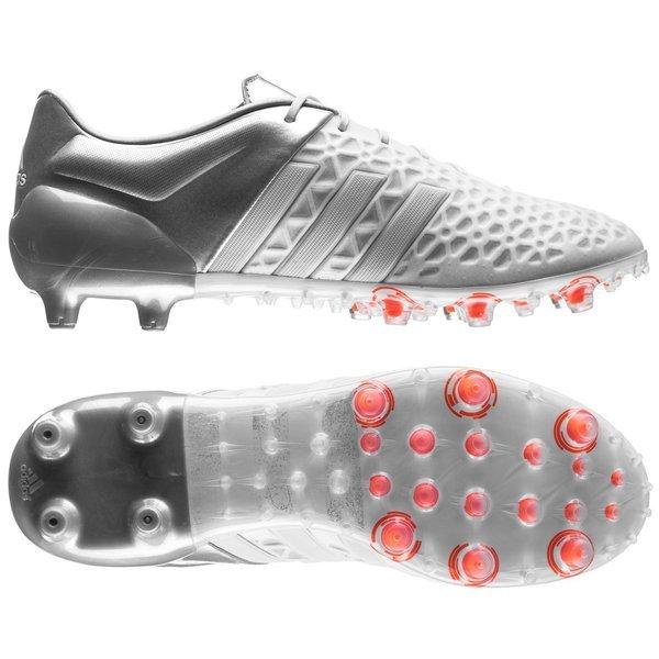 adidas Ace 15.1 FG/AG Weiß/Silber | www.unisportstore.de