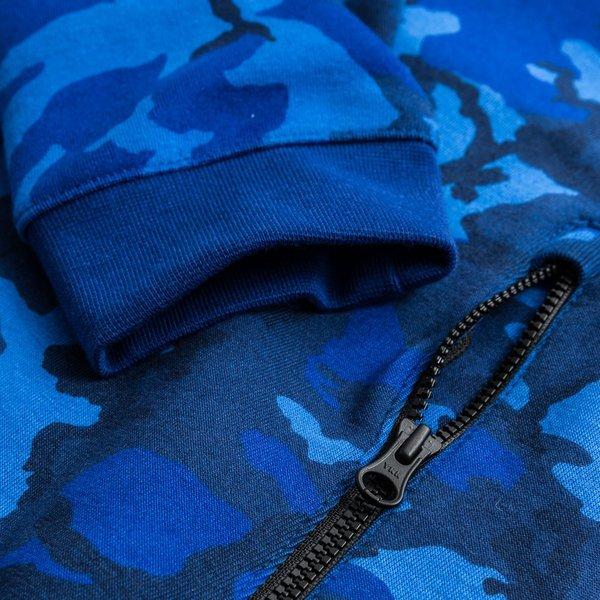 Beste Nike Kapuzenjacke Tech Fleece Windrunner Camo Blau/Schwarz | www HC-01