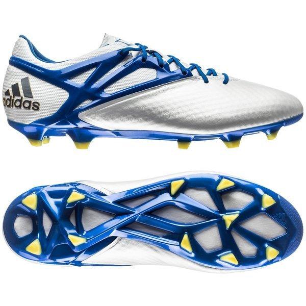 adidas Messi 15.1 FG/AG Hvid/Blå. Læs mere om produktet. - fodboldstøvler.  - fodboldstøvler