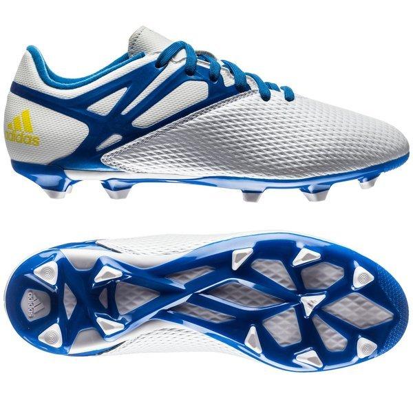 adidas Messi 15.3 FG AG White Prime Blue Core Black Kids  62295197ea365