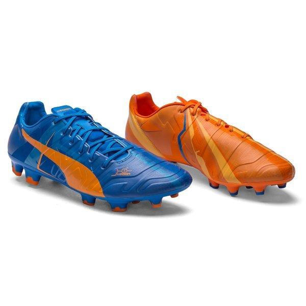54d8d7ab40a3 Puma evoPOWER 1.2 Tricks H2H FG Orange Clown Fish Electric Blue ...