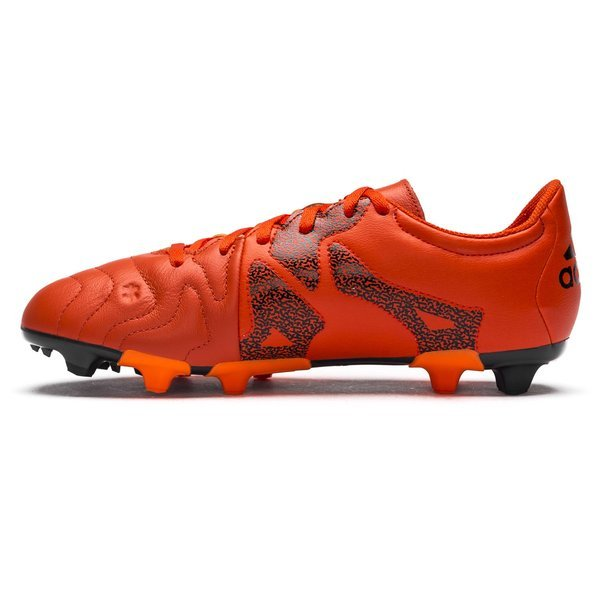 9fe8b4d3d adidas X 15.3 Leather FG AG Bold Orange White Solar Orange Kids ...