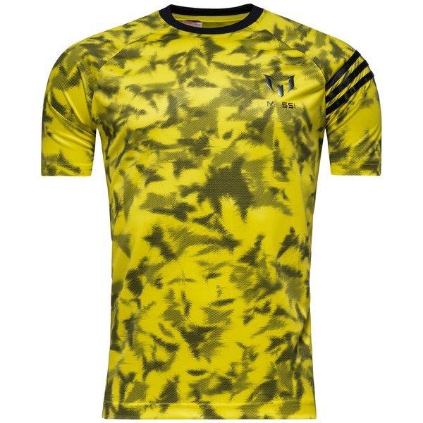 hyviä diilejä paremmin klassinen tyyli adidas T-Paita Messi AOP Keltainen/Musta Lapset