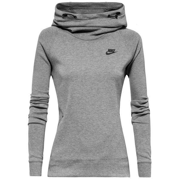 58b18279eed Nike Hoodie Tech Fleece Carbon Heather/Black Women | www ...