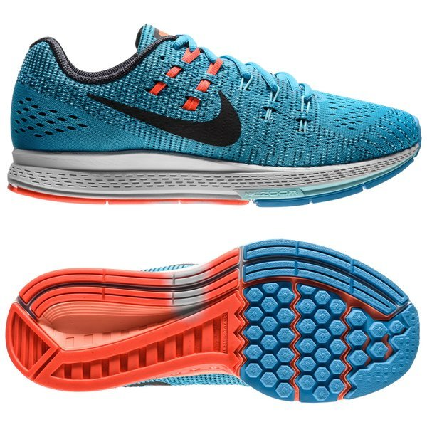 huge discount 254bc ac709 Nike Chaussures de Running Air Zoom Structure 19 Bleu Noir - Femme 0