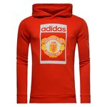 Manchester United Hættetrøje Fleece Originals Rød