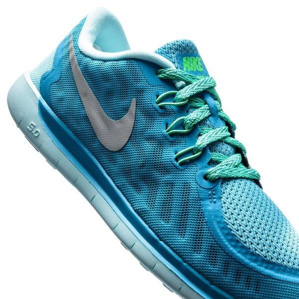 plus récent 2445c 32eb9 Nike Free Chaussures de Running 5.0 Bleu Turquoise/Bleu ...