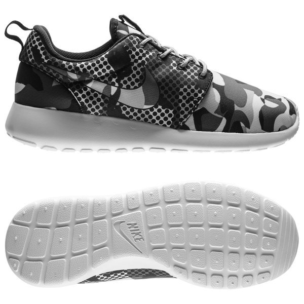 buy popular 56650 46aab Nike Roshe One Print Camo Summit White/Black/Dark Grey/Wolf ...