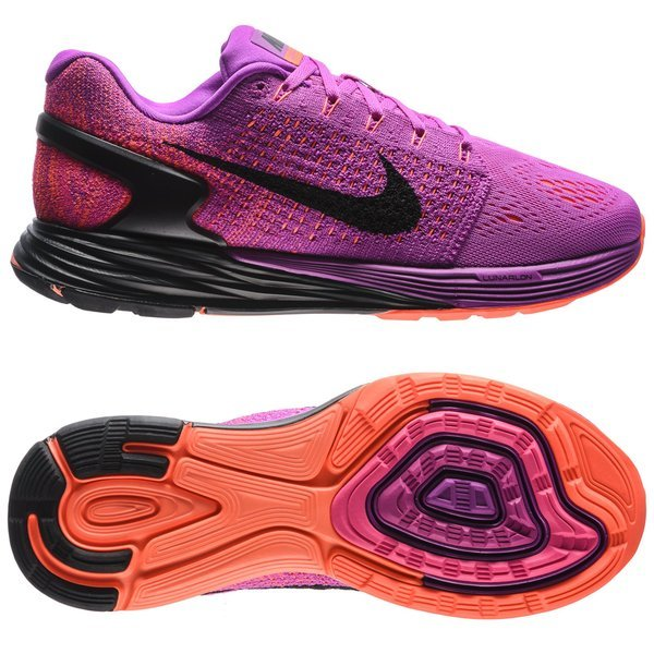 best loved f68eb f2768 Nike Running Shoe Lunarglide 7 Vivid Purple Black Hyper Orange Women    www.unisportstore.com