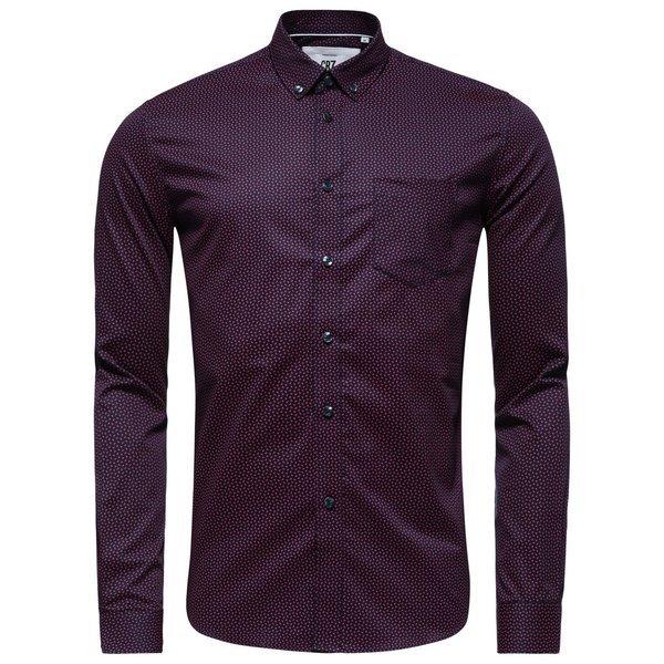 Overhemd Rood Zwart.Cr7 Overhemd Slim Fit Rood Zwart Www Unisportstore Nl