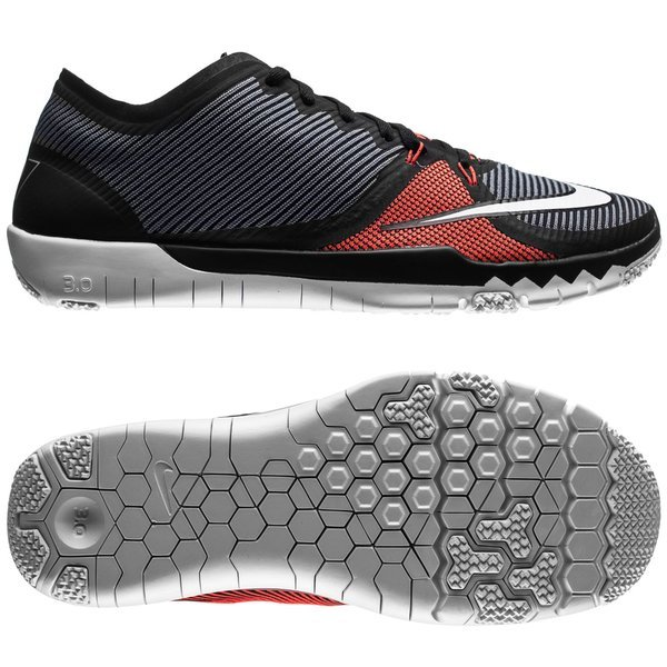 nike free 3.0 trainer cr7 madeira cool grey/red