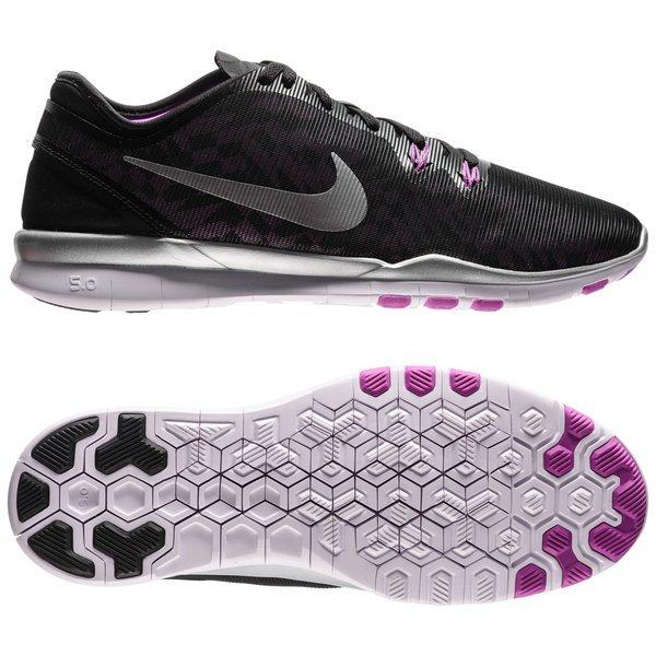 Nike Free 5.0 TR FIT 5 SchwarzSilberLila Damen