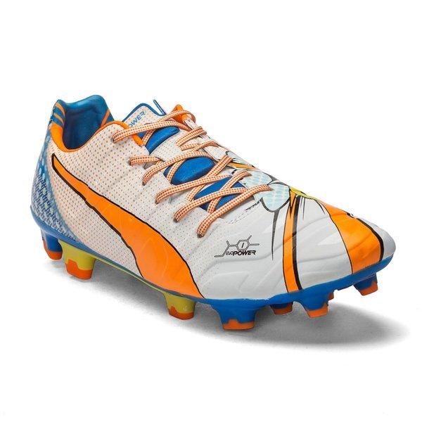 e6a04684eea7 Puma evoPOWER 1.2 FG Pop Art White Orange Clownfish Electric Blue Lemonade.  Read more about the product. - football boots