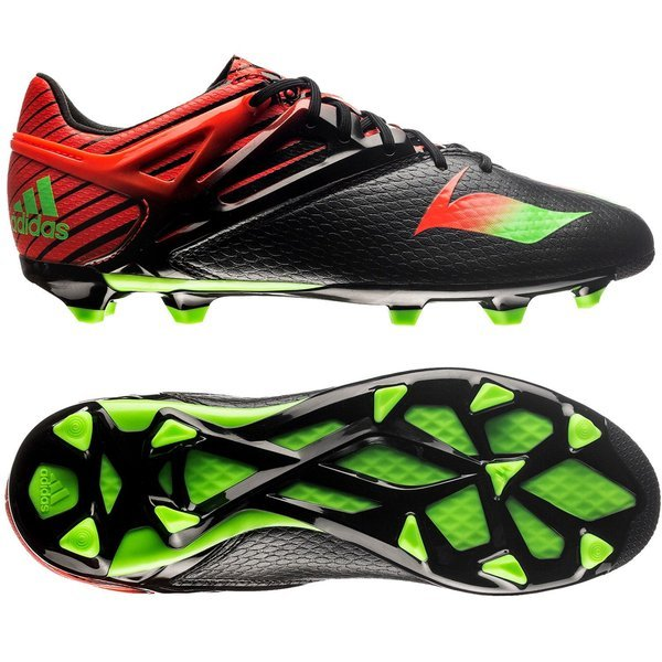af2424c16221 adidas Messi 15.1 FG/AG Core Black/Solar Green/Solar Red Kids | www ...
