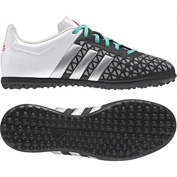74138df2e9f adidas ace 15.3 tf core black matte silver white kids ...