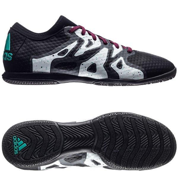 sports shoes 381e4 ede3b Adidas X 15.1 TF Football Shoes Black White Pink Sites adidas X 15+  Primeknit Court IN Core BlackShock MintWhite ...