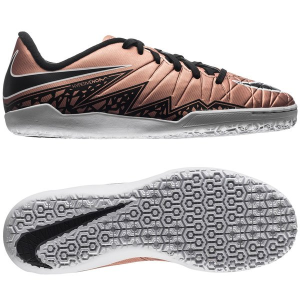 Nike Hypervenom Phelon II IC Metallic Red Bronze/Black/Green Glow Kids.  Read more about the product. Compare models. - indoor shoes. - indoor shoes