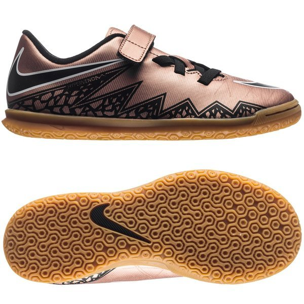 Nike Hypervenom Phade II IC Metallic Red Bronze/Black/Green Glow Kids. Read  more about the product. Compare models. - indoor shoes. - indoor shoes