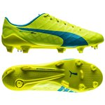 Puma evoSPEED SLS FG Safety Yellow/Atomic Blue/White