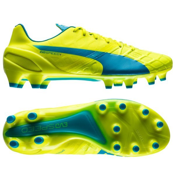 Puma evoSPEED 1.4 FG Safety Yellow/Atomic Blue/White