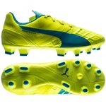 Puma evoSPEED 1.4 FG Safety Yellow/Atomic Blue/White Kids