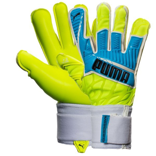 PUMA Goalkeeper Gloves evoSPEED 1.4 Safety Yellow/Atomic Blue/Black. Read  more about the product. - goalkeeper equipment. - goalkeeper equipment