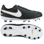 Nike Tiempo Legend 6 FG Sort/Hvit/Gull Barn