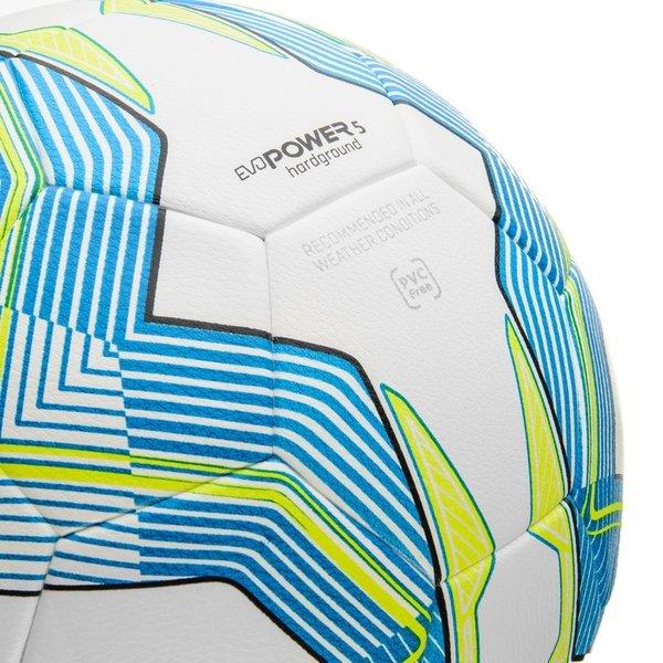 9311643f2737 Puma Football evoPOWER 5.3 Hardground White/Atomic Blue/Safety Yellow