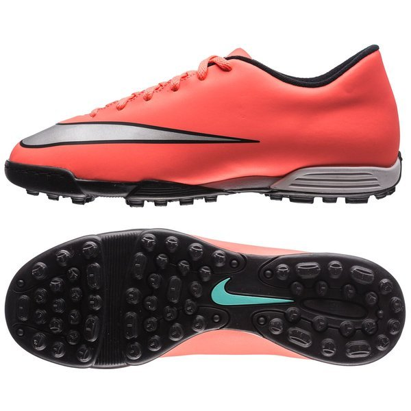 nike mercurial vortex ii tf bright mango metallic silver black ... 068e269913f2e