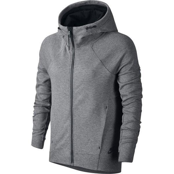nike sweat à capuche tech fleece gris noir - femme ... daf5800281c