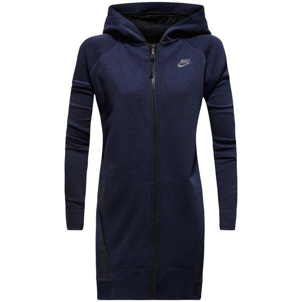Nike Sweat à Capuche Tech Fleece Cocoon Mesh Bleu Marine Femme