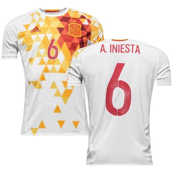 Spain Away Shirt 2016 17 A. INIESTA 6  d15c37ba4