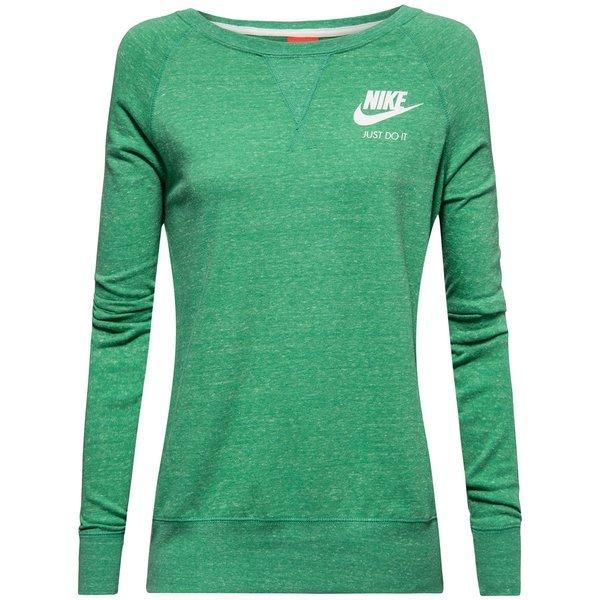 Nike Trainingsshirt Gym Vintage Crew Grün Damen
