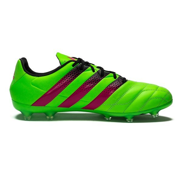 best sneakers 3ae80 732e1 adidas ACE 16.2 Leather FG/AG Solar Green/Shock Pink/Core ...