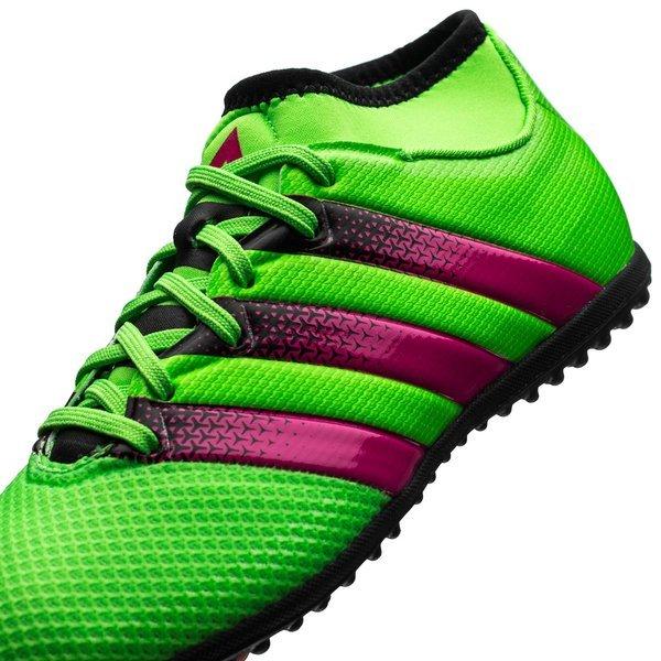low priced 06e6b 4f7fb adidas ACE 16.3 Primemesh TF Solar Green Shock Pink Core Black Kids