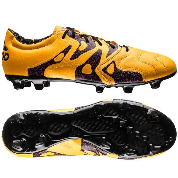 882df2ee9d8 adidas X 15.2 Leather FG/AG Solar Gold/Core Black/Shock Pink   www ...