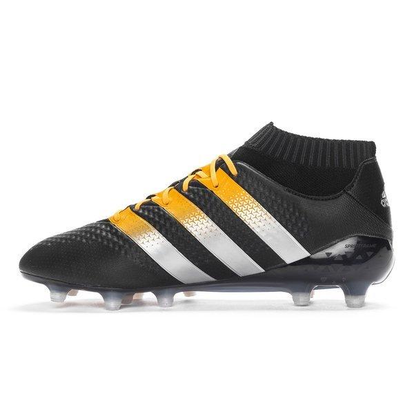 size 40 f84fe 76cec adidas ACE 16.1 Primeknit FG/AG Core Black/Matte Silver ...