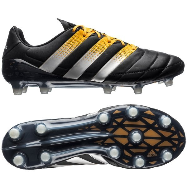 low priced 327e5 be70e adidas ACE 16.1 Leather FG/AG Core Black/Silver Metallic ...
