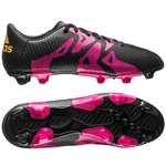 adidas X 15.3 FG/AG Core Black/Shock Pink/Solar Gold Kids