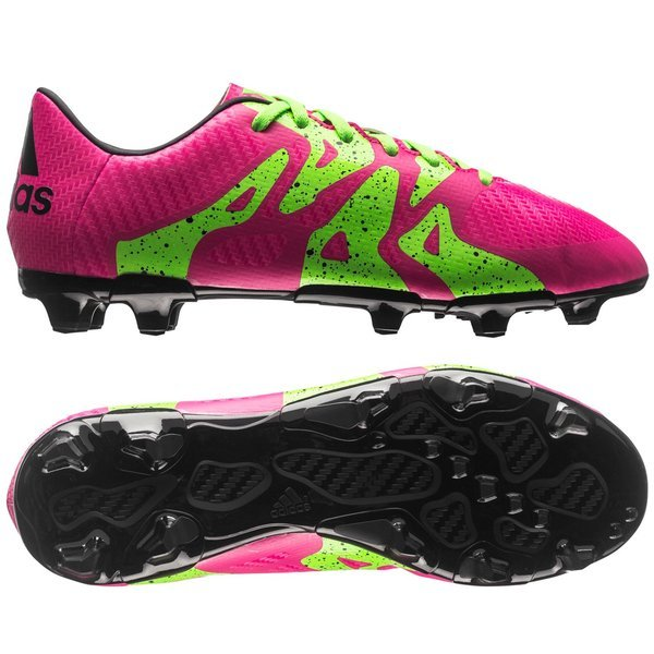 adidas X 15.3 FG AG Shock Pink Solar Green Core Black Kids. Read more about  the product. - football boots. - football boots image shadow d862f944a