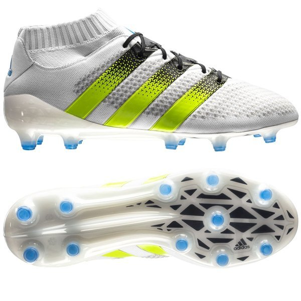 innovative design d4794 20f69 adidas ACE 16.1 Primeknit FG AG White Semi Solar Slime Shock Blue. Read  more about the product. - football boots. - football boots image shadow