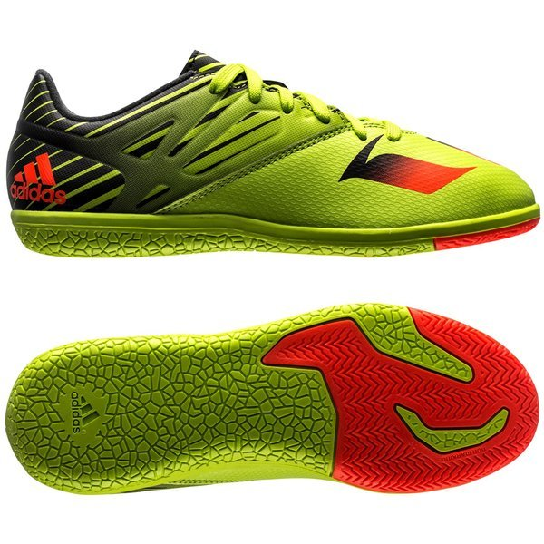 7ce7c7b20718 adidas Messi 15.3 IN Semi Solar Slime/Solar Red/Core Black Kids ...