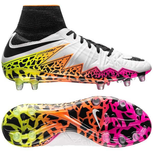 add89a75b328 Nike Hypervenom Phantom II FG White Black Total Orange Kids