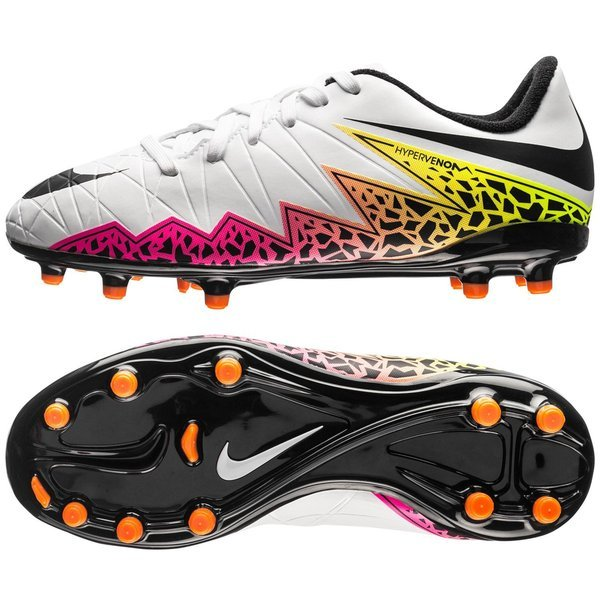 a6e11b00de9a Nike Hypervenom Phelon II FG White Black Total Orange Kids