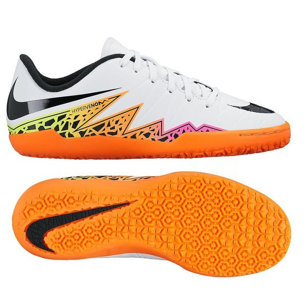 Nike Hypervenom Phelon II IC White Black Total Orange Kids. Read more about  the product. - indoor shoes image shadow c8589f83d0b9