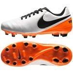 Nike Tiempo Legend 6 FG White/Black/Total Orange Kids